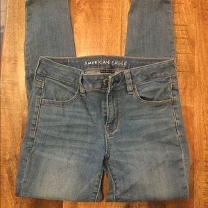 American Eagle outfitters pale blue jegging